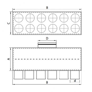 Oro paskirstymo dėžė LOK-H 3