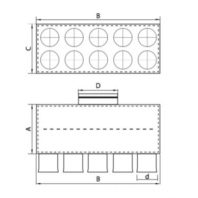 Oro paskirstymo dėžė LOK-H 2