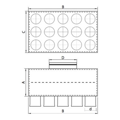 Oro paskirstymo dėžė LOK-H 4