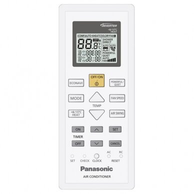 Panasonic Etherea Inverter+ šilumos siurblys CS-NZ25VKE/ CU-NZ25VKE 3